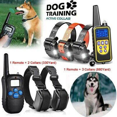 Dog Shock Collar With Remote Waterproof Electric for Large Pet Training 880 Yard