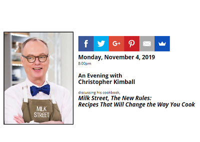 SIGNED Milk Street: The New Home Cooking by Christopher Kimball, autographed new