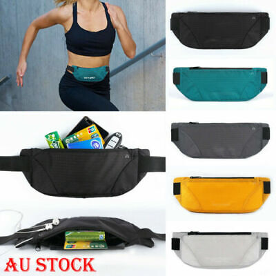 Water Resistant Running Hiking Sport Bum Bag Travel Money Phone Waist Belt Pouch