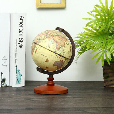 14cm Vintage Desk Table Rotating Earth World Map Globe Geography Home Decor Gift