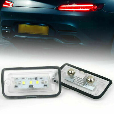 2X LED 8-30V Lamp Rear White License Plate Light for Benz C-Class W203 Limo MU