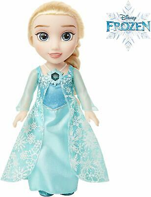 "Disney Frozen 2 Snow Glow Elsa 14"" Wearing Iconic ICY Blue Dress Singing Doll"