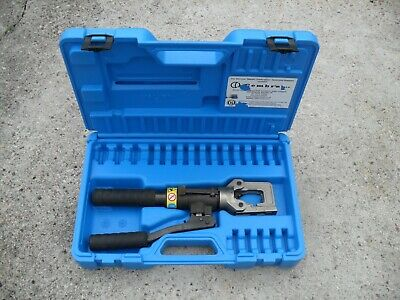 Cembre HT51, two speed, hand hydraulic crimper, crimping tool & case.