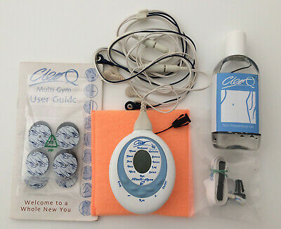 Cleo Q Facial Toning System - Control Unit + leads + pads + gel + strap + manual