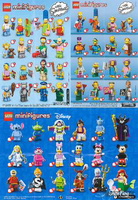 LEGO MINIFIGURE SERIE SIMPSON 1 et 2 DISNEY - Minifigurine ô choix - Choose -NEW