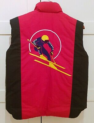 Ralph Lauren POLOUSA Circle Ski Vest Cookie Red OG 1987 Vintage Rare 80s