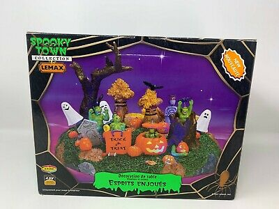 Lemax Spooky Town Playful Spirits #74606  Retired Rare Halloween 2007