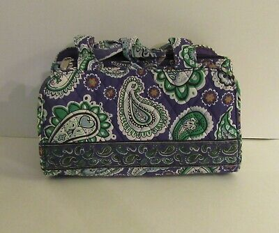 BELVAH Quilted Purse/Bag Lots of Pockets Purple Green White Paisley Floral