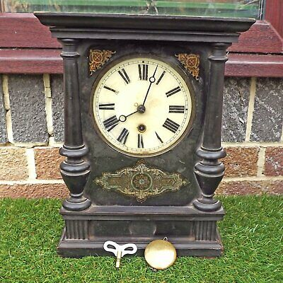 Badenia Mantle Clock 30 Hour German Black Forest Working