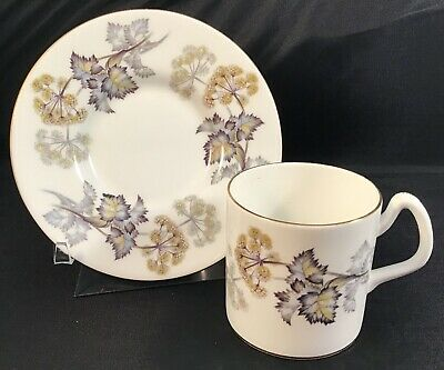 """1 COALPORT DEMITASSE CUP & SAUCERS """"CAMELOT """" BONE CHINA Made In England"""
