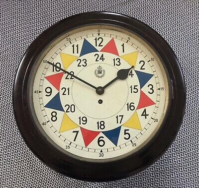 RAF Battle of Britain 1938 operations room, fusee wall clock.