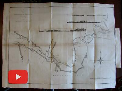 Straits of Magellan Patagonia South America 1773 Hawkesworth large detailed map