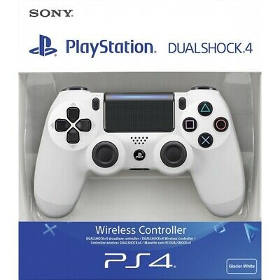 Sony Dualshock 4 Wireless Controller for PlayStation 4 - White *Includes Charger