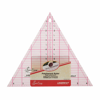 """Sew Easy Patchwork Quilting Ruler 60 Degree Triangle: 8"""" x 9.25"""""""