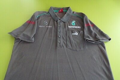 MERCEDES AMG PETRONAS F1 TEAM ISSUE POLO SHIRT MENS MEDIUM by PUMA