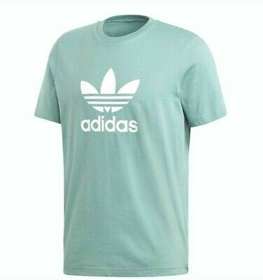 Adidas Originals Adi Trefoil Tee Men/'s Leisure Iconic T-Shirt Bluebird