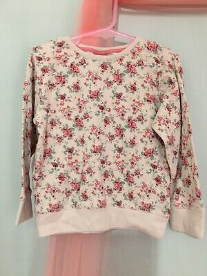 Lovely Girls Next Pink Floral Long Sleeve Jumper Top 3-4yrs🌸🌸