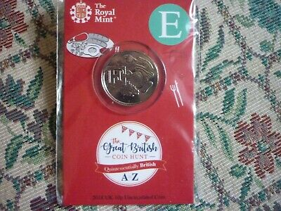2018 UK 10p TEN PENCE ALPHABET COIN 'E' ROYAL MINT 'ENGLISH BREAKFAST ' UNOPENED
