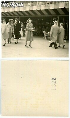 Vintage Photo circa 1950s People, young woman wearing beautiful winter coat
