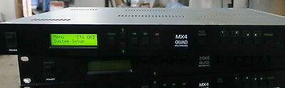 Zandar mx4 quad 4 channel analog composite multiviewer with analog and VGA outpu