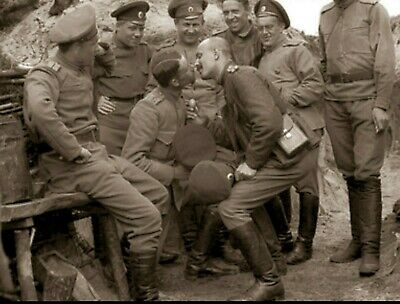Vintage Photo Russian Army Officers Kissing Gay Int