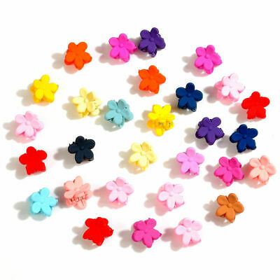 30Pcs Baby Kid Girl Lovely Hairpins Mini Flowers Candy Claw Hair Clips Headdress