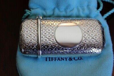 ANTIQUE TIFFANY & CO. STERLING SILVER MATCH SAFE VESTA - Signed
