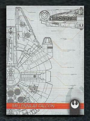 2019 Topps Star Wars Journey to Rise of Skywalker Schematics S-10 Millennium Fal