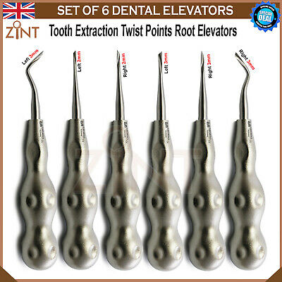 Surgical Oral Forceps Dental Twisted Point Tooth Extracting Luxating Elevators