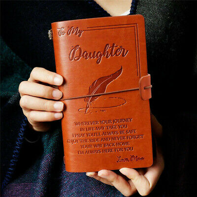 To My Daughter Where Ever Love Mom Leather Business Journal Notebook Diary Gift