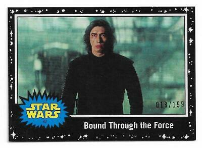 Topps Star Wars Journey to Rise of Skywalker Black Starfield #82 Serial #18/199