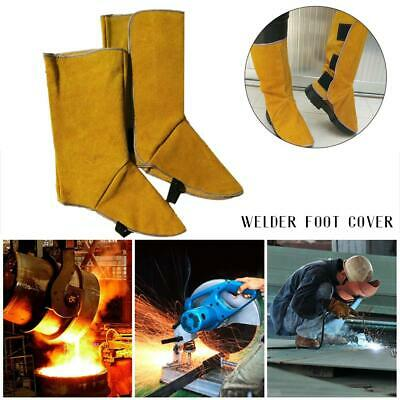Leather Welding Spats Protective Feet Cover Flame Resistant Boot For Welder