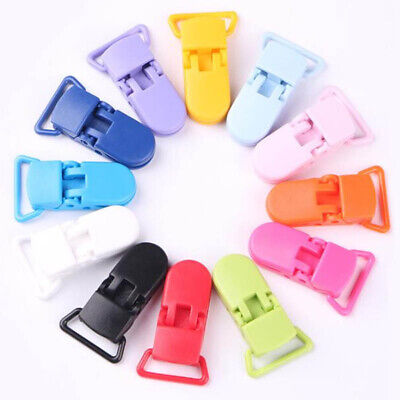 Multi-color Baby Safe Dummy Plastic Pacifier Clip Holder Soother Chain Making
