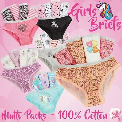 7 PAIRS Girls Kids Infants Pants Briefs Knickers Size Age 2-3 3-4 5-6 7-8 Years