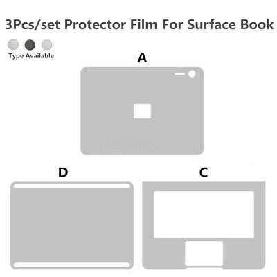 13.5'' 3pcs/set Full Body Cover Skin Sticker Trackpad For Microsoft Surface Book