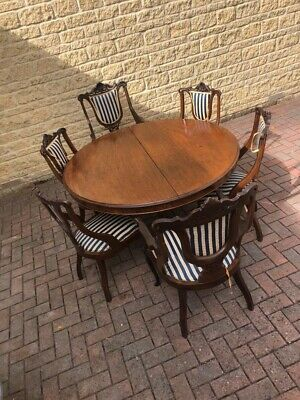 Mahogany table,Victorian set,6 antique chairs,Antique furniture set