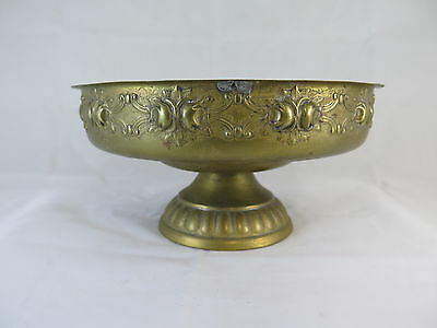 Antique Centerpieces in Metal Handcrafted a Embossed Vase Bowl Vintage Bowl R116