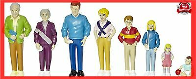 Toy Playsets Happy Loving Doll Pretend Play Family - Caucasian Dolls - Set of 8
