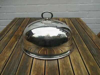 Antique Silver Plated Dome Food Cover Hallmarked EPNS 12""