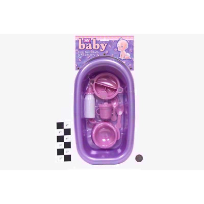 Baby Doll Bathing And Feeding Set - With Bath, Milk Bottle, Cup, Potty, Dummy uk