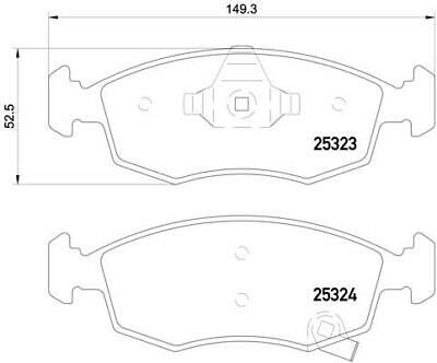 Replacement Mintex Front Brake Pads (Full set for Front Axle) MDB3233