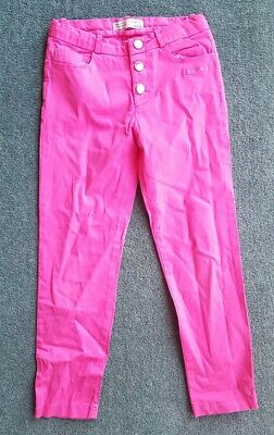 Girls Zara Skinny Cord Trousers Pink Age 7 Years