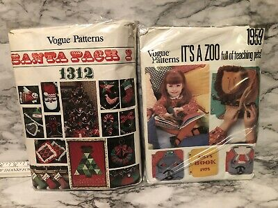 4 Vintage Vogue Pattern Santa Pack #1 #4 Lot Christmas & Its A Zoo 1959 Pets