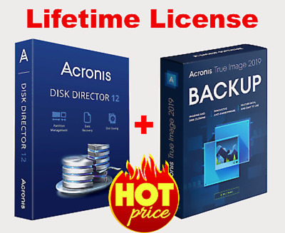 Acronis Disk Director 12 & Acronis True Image 2019 (boot)  Lifetime License Key