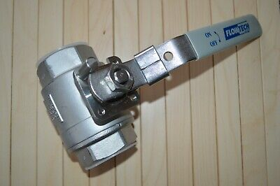 2 x 1.5 INCH BALL VALVE - 316 STAINLESS STEEL - UNUSED !!!!!