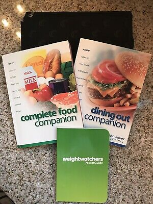WEIGHT WATCHERS Flex Points COMPLETE FOOD & DINING OUT COMPANION Books w/ Case