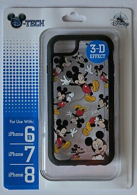 Disney Parks Mickey Mouse Apple Iphone 6s/7/8 Clear Phone Case NWT