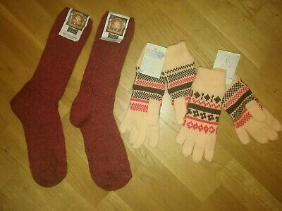 Original GDR Winter Mixed Lot 4 PC Warm Socks Gloves New with Label