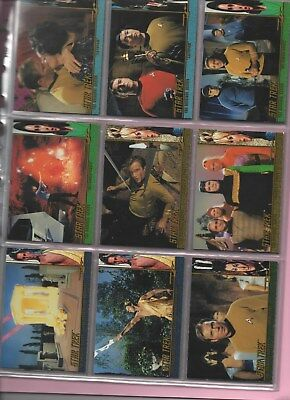 STAR TREK Original series Profiles of Charcters series 2 set in nine card pages