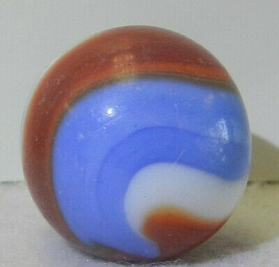 """superman marble"" The Blue Is Darker Than Photos Show AKRO AGATE 3//4"" .758"